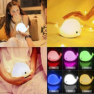 Whale 5 Colour Night Light: gifts for whale lovers